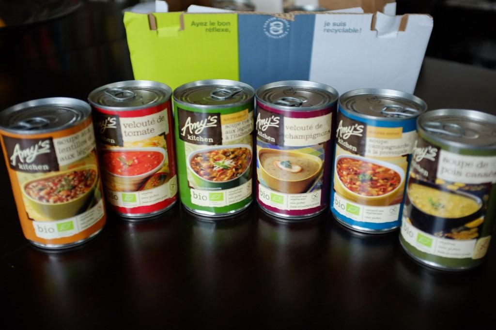 La gamme des soupe sans gluten d'Amy's Kitchen