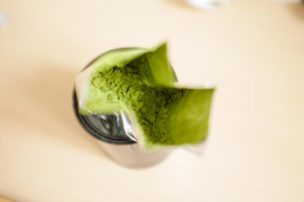 Voilà à quoi ressemble la poudre de thé Matcha