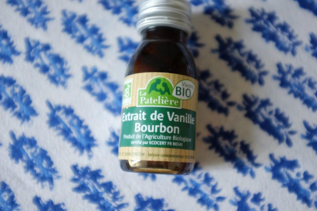 L'extrait de vanille, que j'ai oublié sur la photo précédente...
