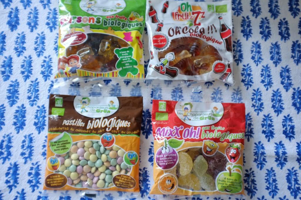 Les bonbons sans gluten et Bio pour décorer...