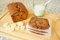 recette sans gluten de cake banane-chocolat
