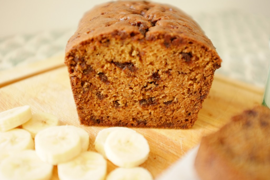 le cake sans gluten banane-chocolat