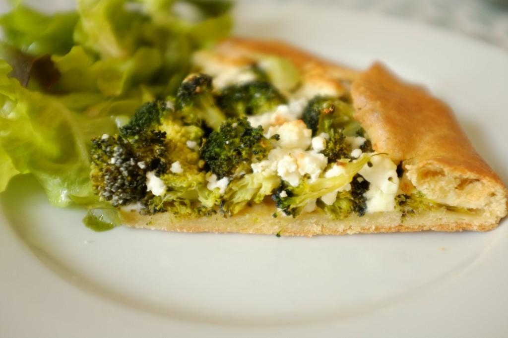 La tarte rustique sans gluten aux brocolis