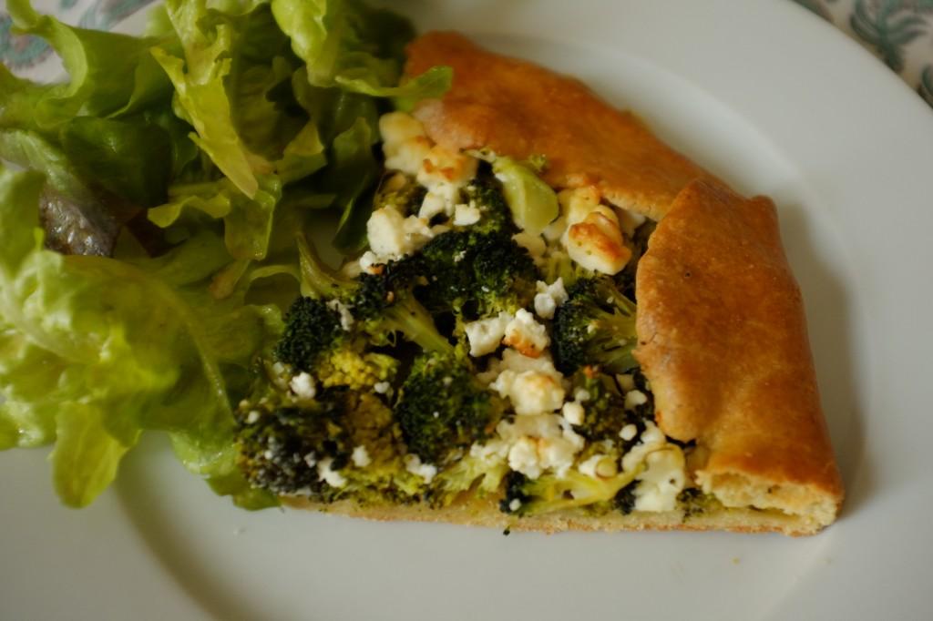 La tarte rustique aux brocolis