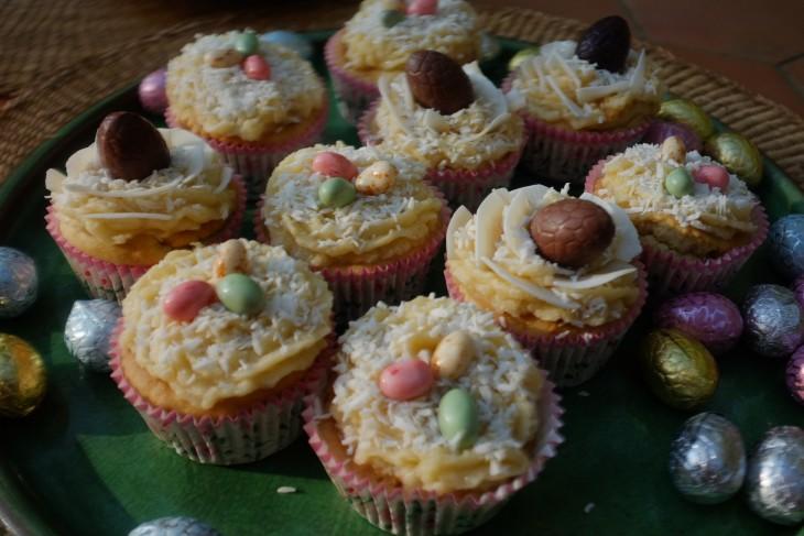 recette sans gluten de cupcake coco pour Pâques