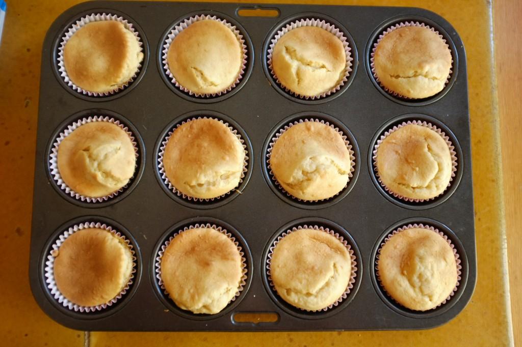 Les cupcakes sans gluten à la noix de coco à la sortie du four