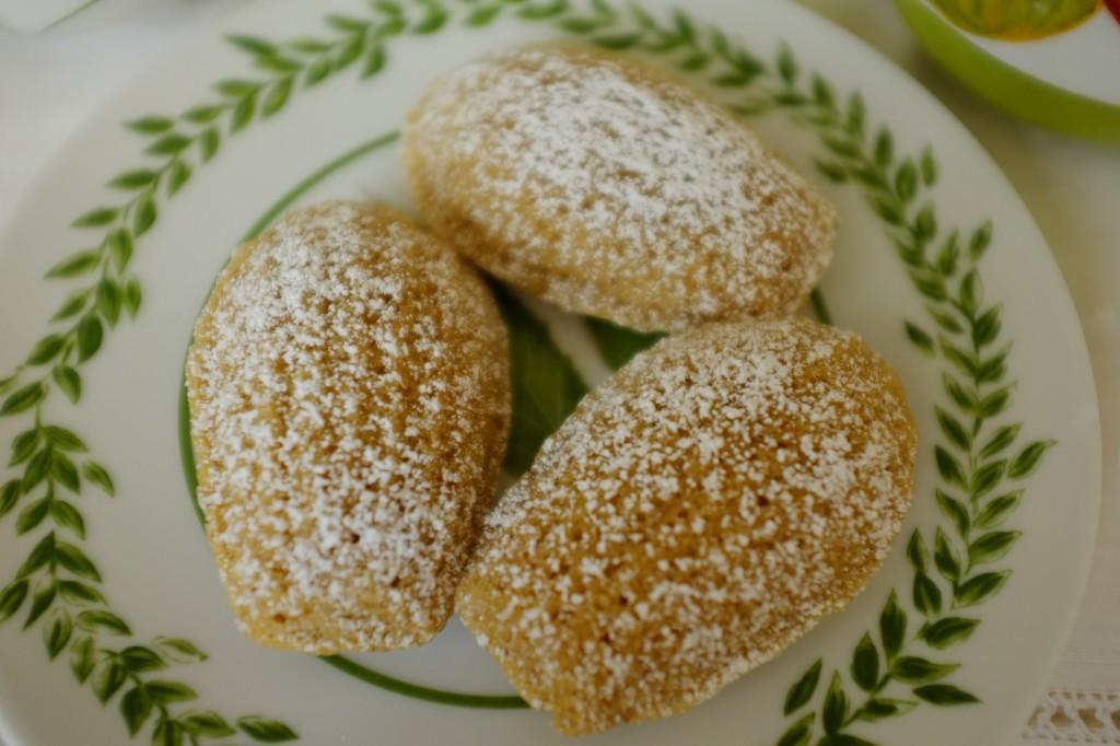 Les madeleine sans gluten à la farine de Souchet