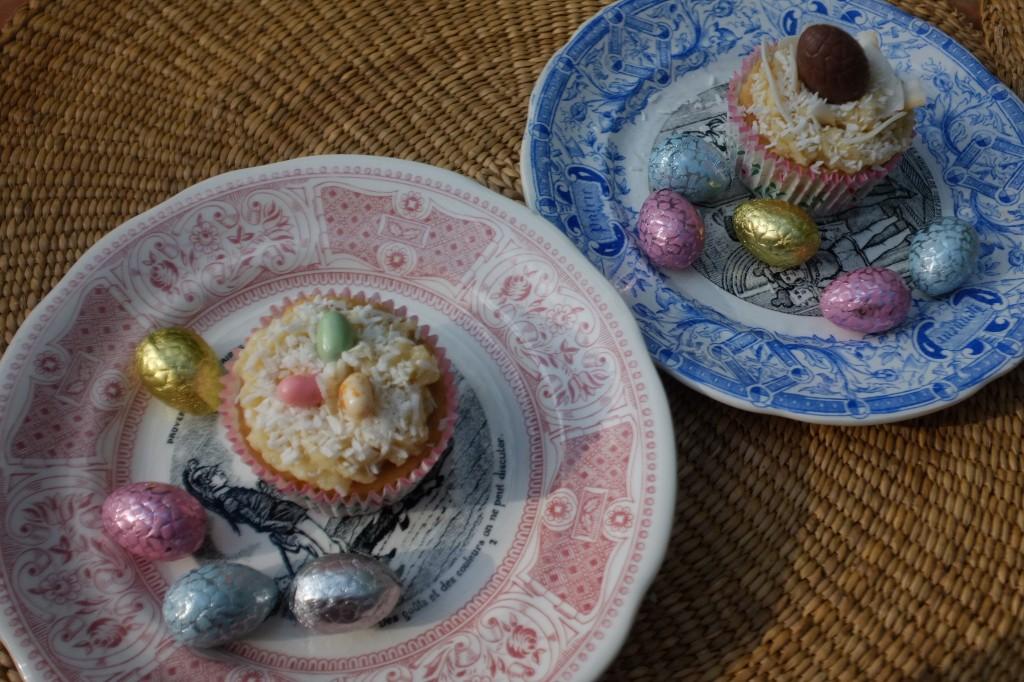Les cupcakes sans gluten à la noix de coco pour célébrer Pâques