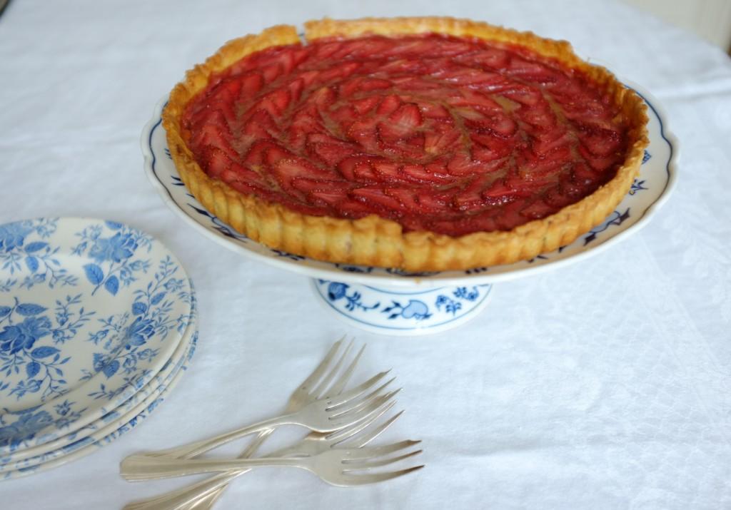 Ma tarte aux fraises sans gluten