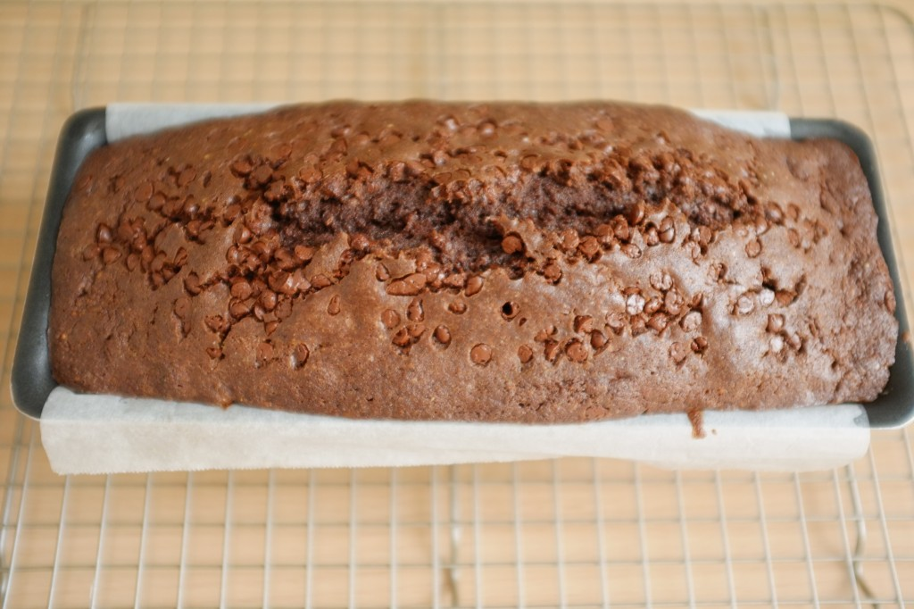 La cae sans gluten aux deux chocolats à la sortie du four.