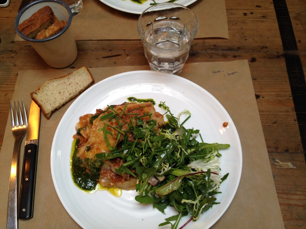 Le plat du jour: lasagne !