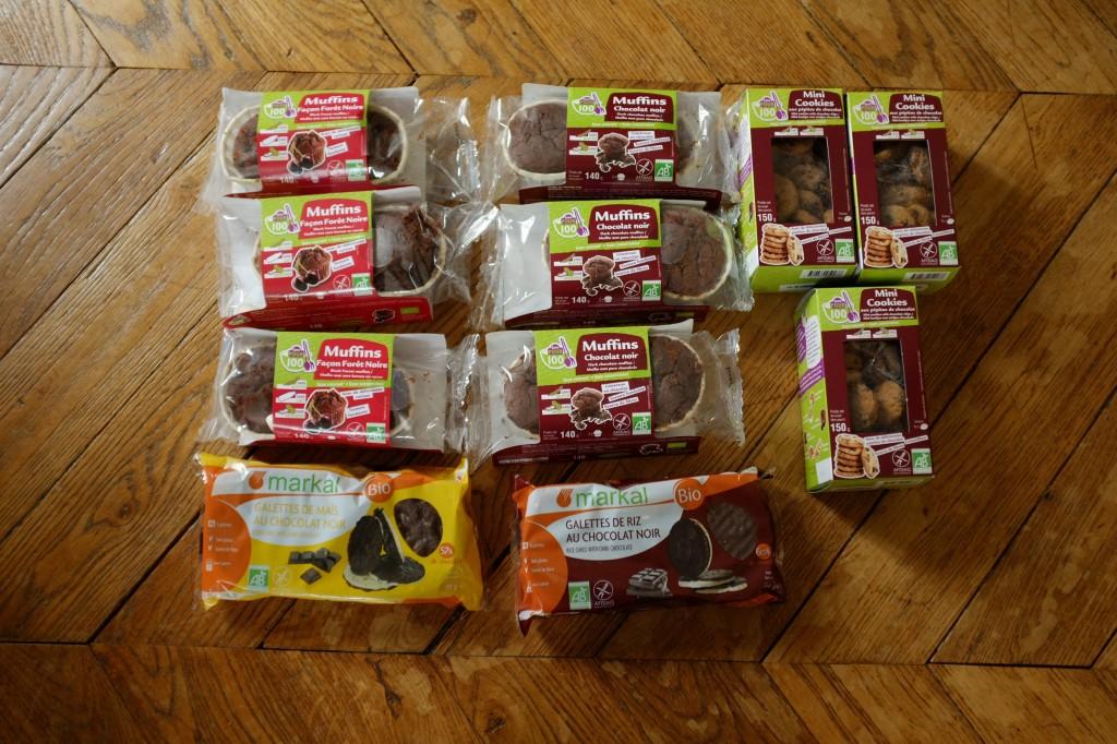 Tous les gâteaux: muffins et cookies certifié sans gluten que nous allons tester aver les enfants