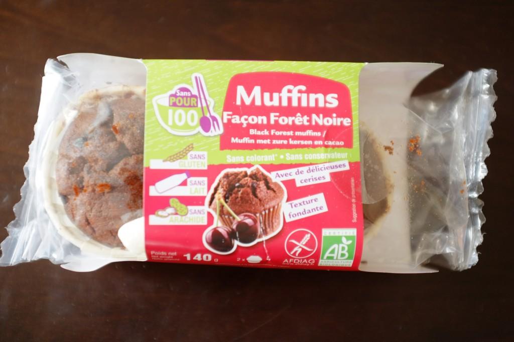 Les muffins façon Forêt Noire, certifié  sans gluten, sans lactose et sans arachide