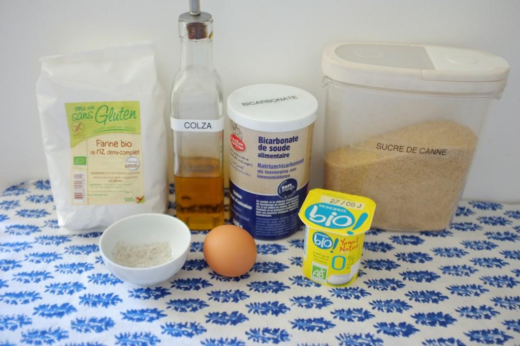 Les ingrédients sans gluten pour les pancake express