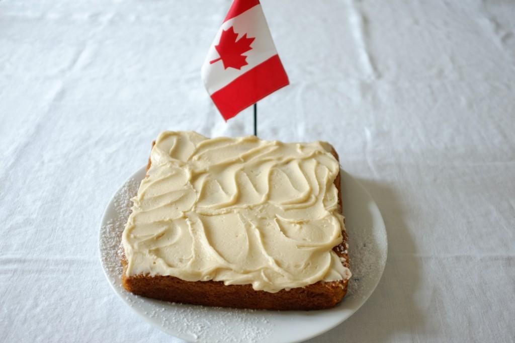 Mon gâteau sans gluten au sirop d'érable en l'honneur de la Fête Nationale du Canada