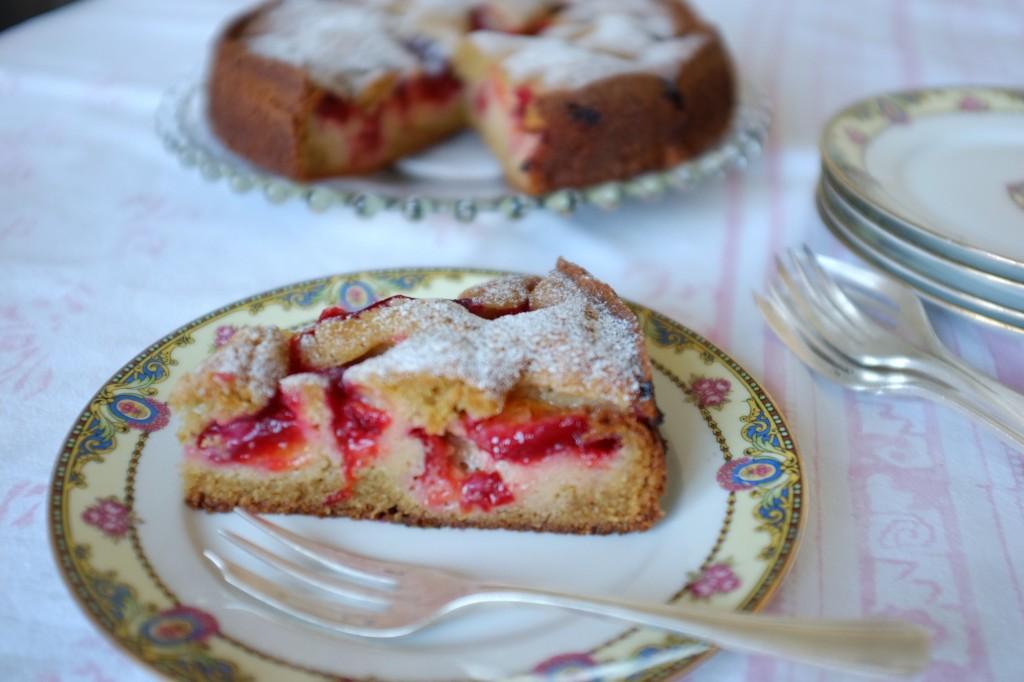 le gâteau aux prunes sans gluten