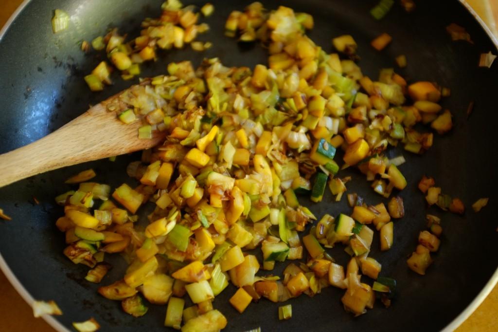 La poêlée de courgette et poireau