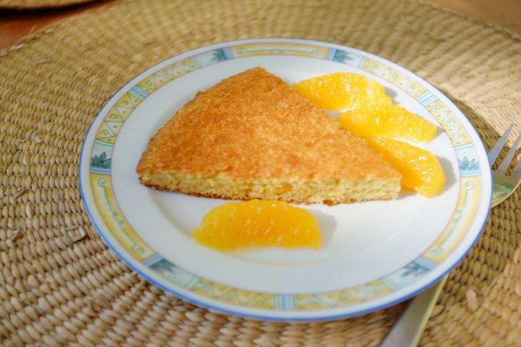 recette sans gluten de gâteau à l'orange