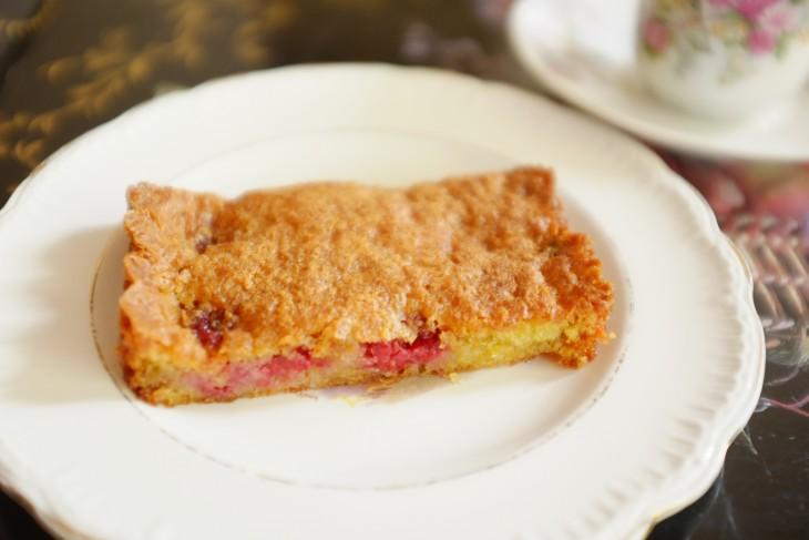 recette sans gluten de gâteau framboise et rhubarbe