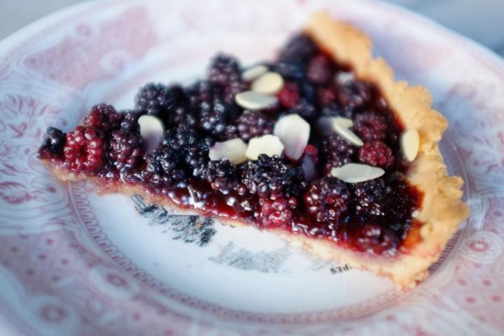recette sans gluten de tarte aux mûres sauvages