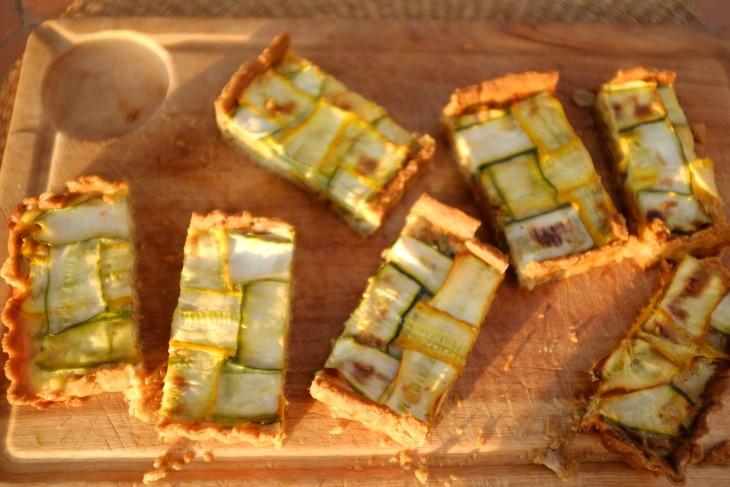 recette sans gluten de tarte courgette et poireau