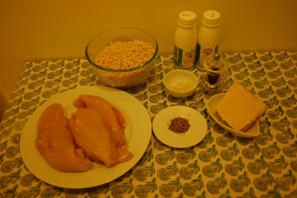 les ingrédients sans gluten pour les nuggets de poulet au riz soufflé
