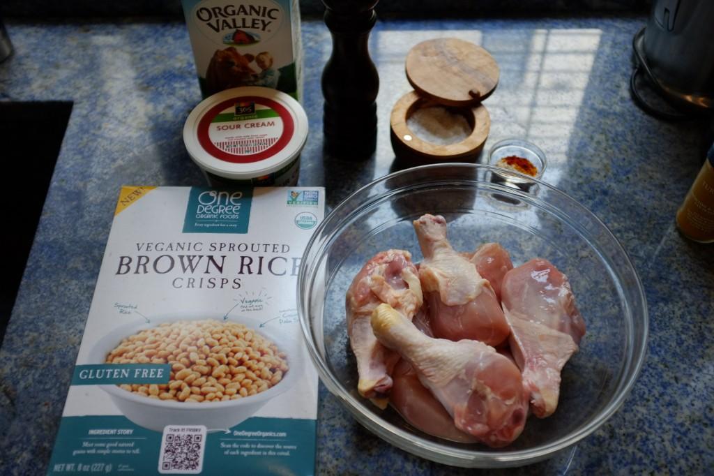 Voici les ingrédients sans gluten , la première fois que j'ai essayé cette recette cet été