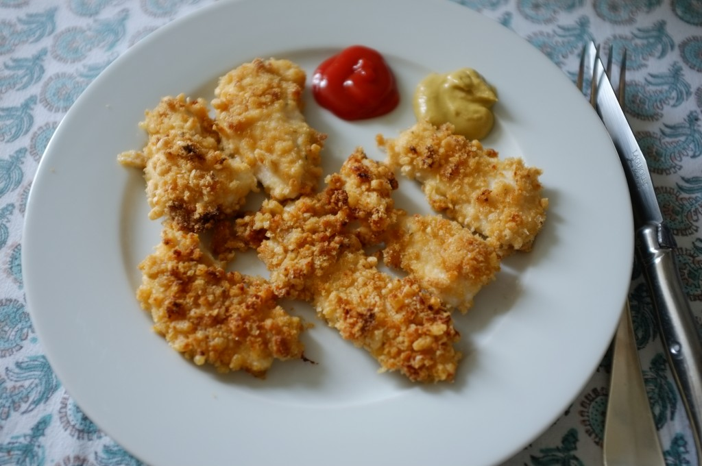 les nuggets de poulet sans gluten au riz soufflé