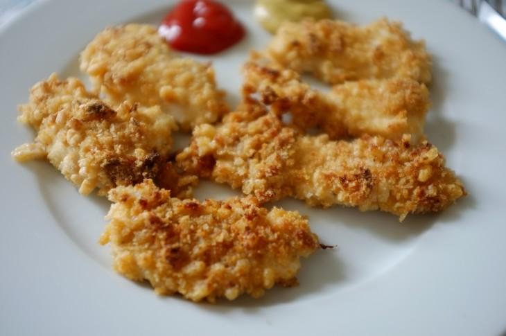 recette sans gluten de nuggets de poulet au riz soufflé