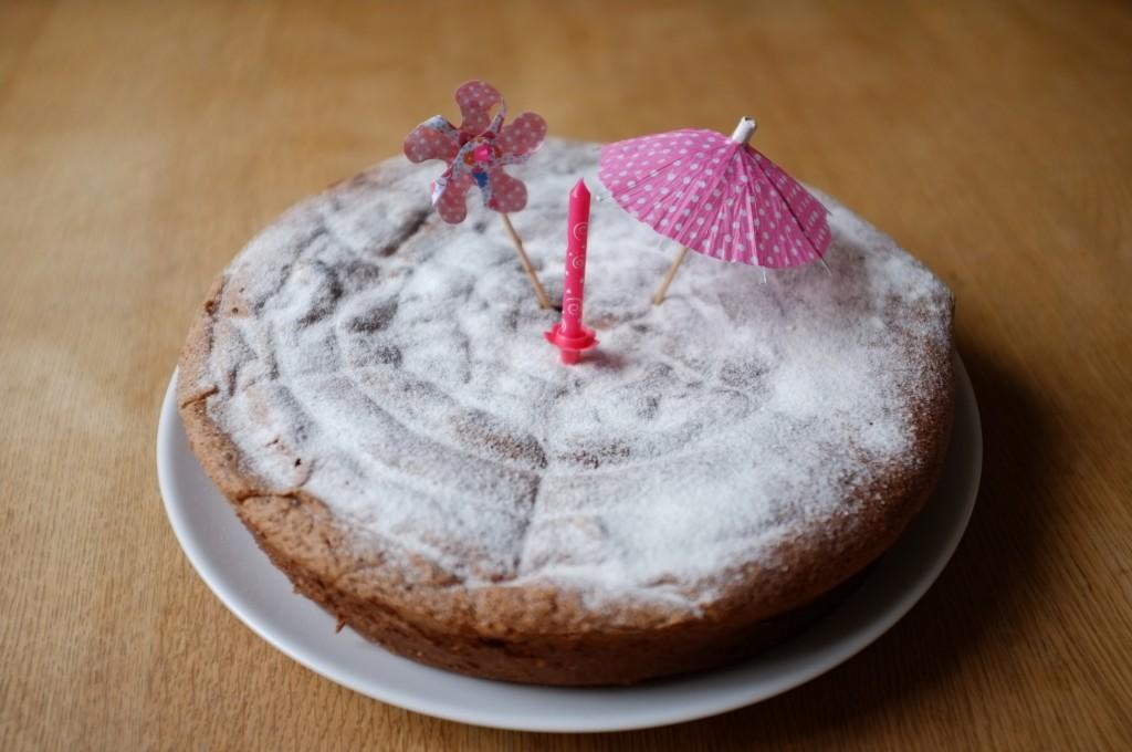le gâteau au chocolat sans gluten de CHarlotte pour mon anniversaire