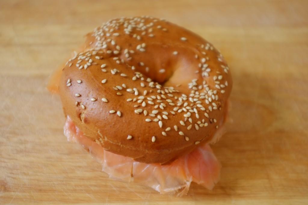 Mon bagel sans gluten au saumon