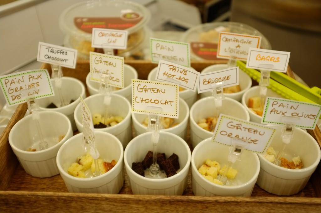 Le plateau de dégustation des différents produits sans gluten proposés