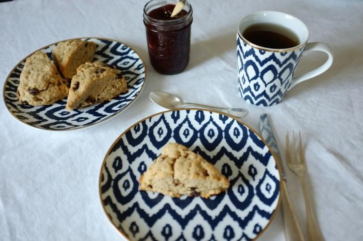 recette sans gluten de scones raisins et cannelle
