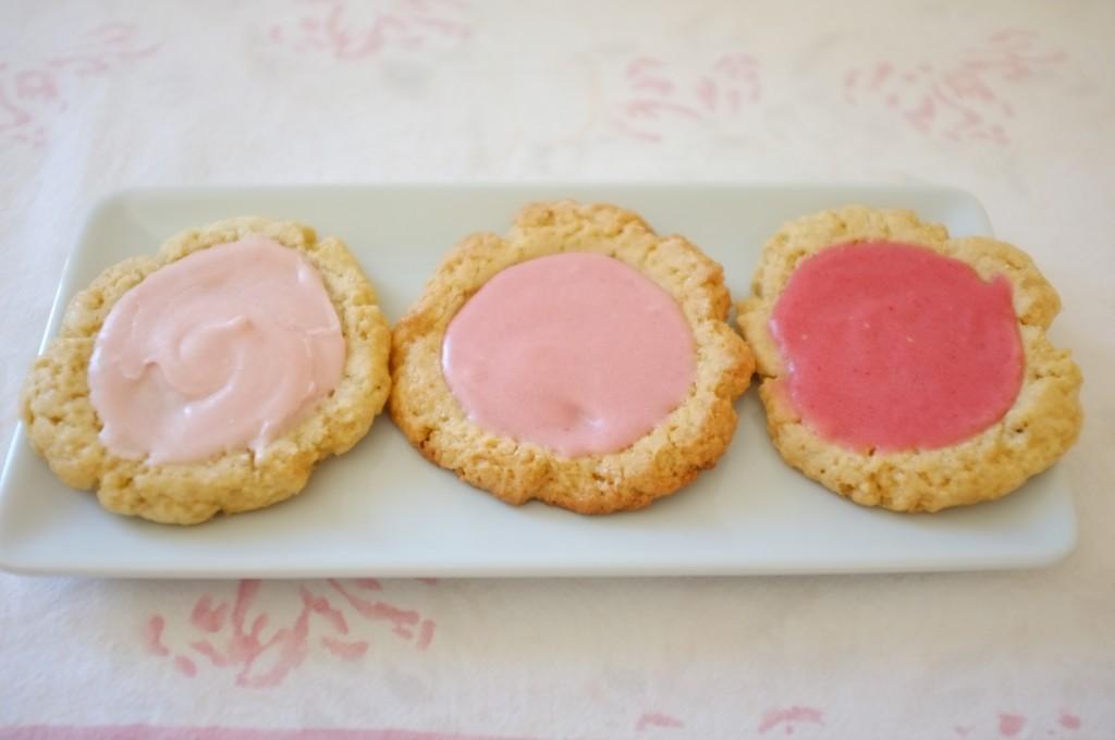 Les cookies sans gluten roses pour Meredith