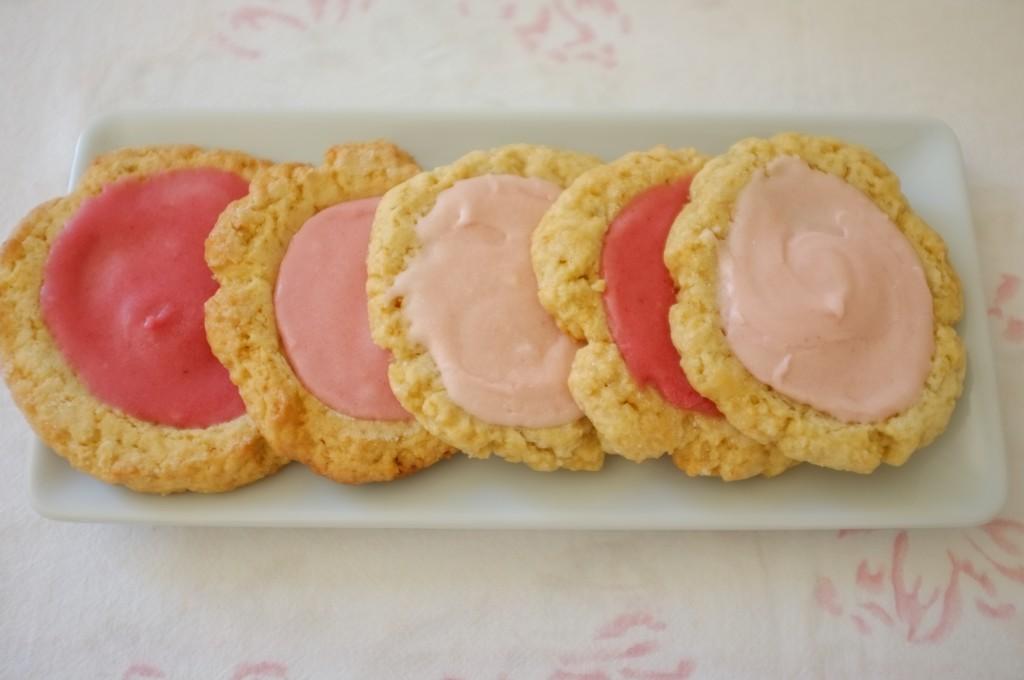 les cookies sans gluten roses cuisiné en homage à Meredith