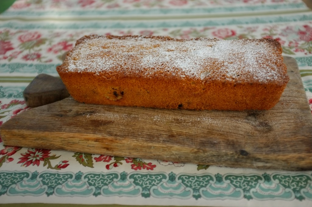 Le cake sans gluten orange et cranberry