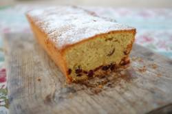 recette sans gluten de cake orange et cranberry