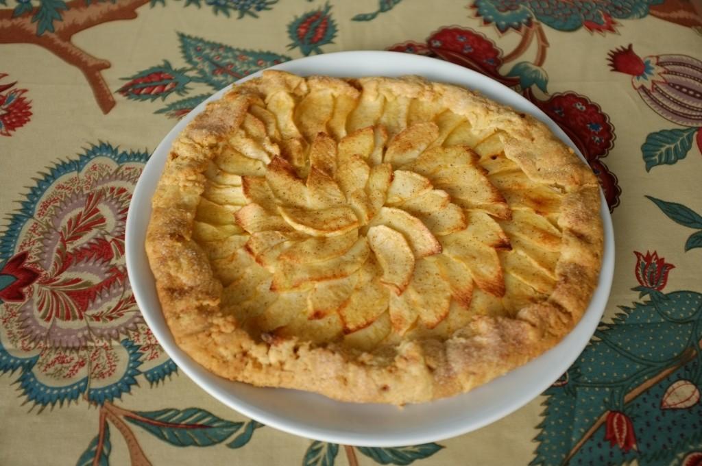 Le tarte rustique sans gluten aux pommes
