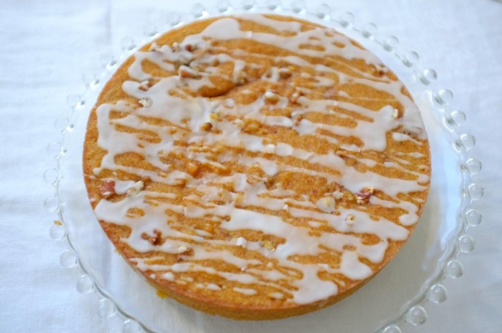 J'ai fais un glaçage simple pour décorer ce déliceiux gâteau sans gluten