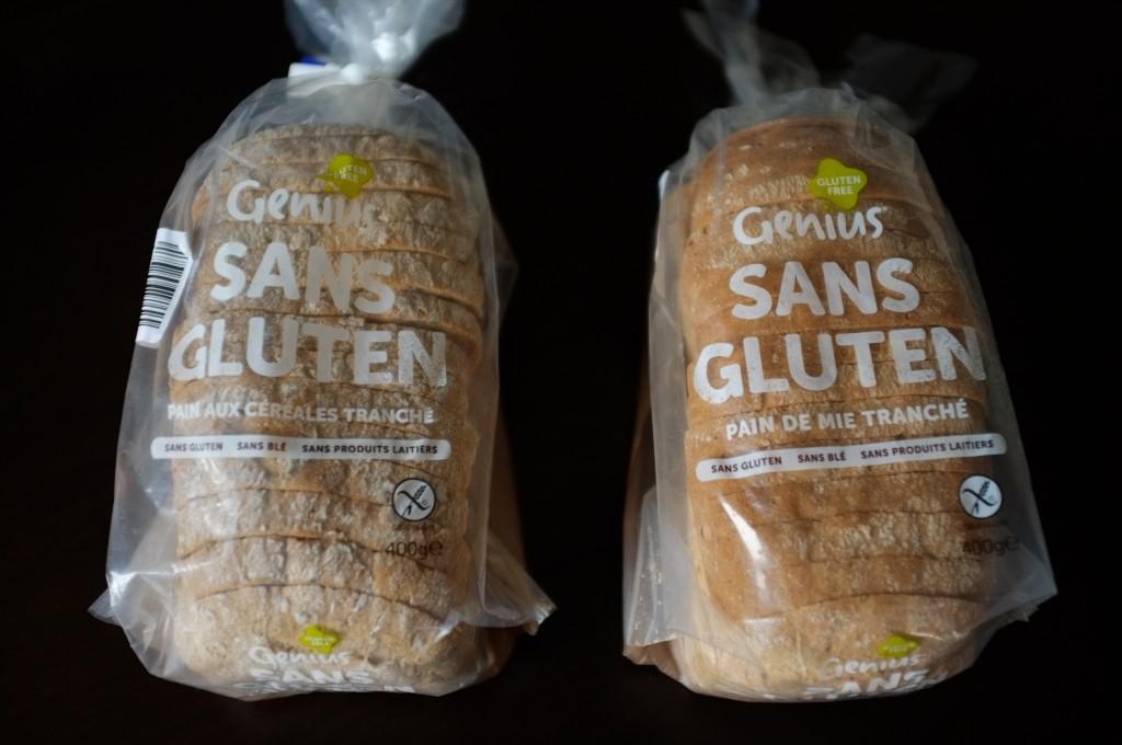 Les deux pains tranché de la marque Genius que j'ai goûté