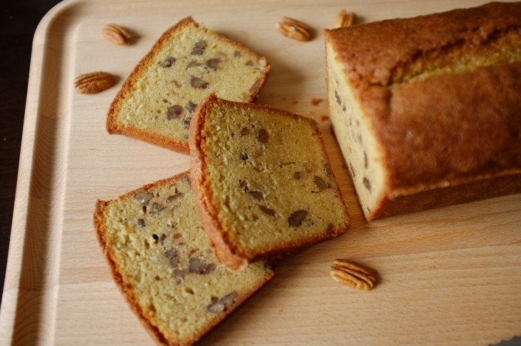 recette sans gluten de cake au sirop d'érable et noix de pécan
