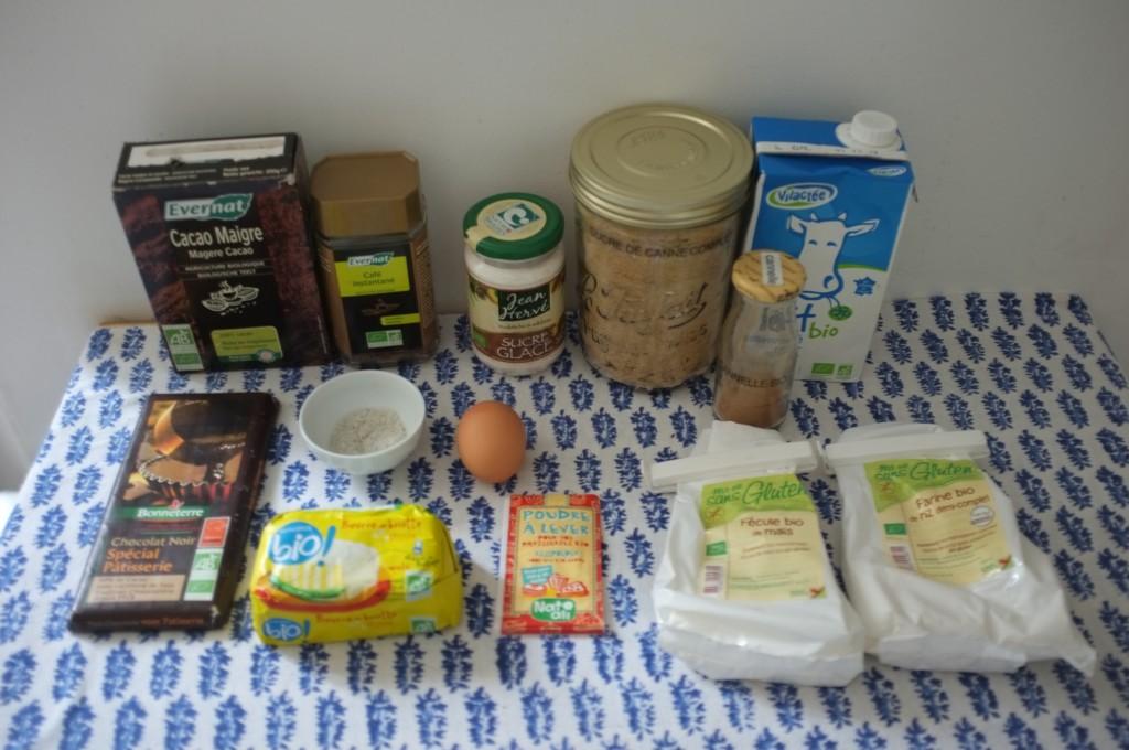 Les ingrédients sans gluten pour les cookies des neiges