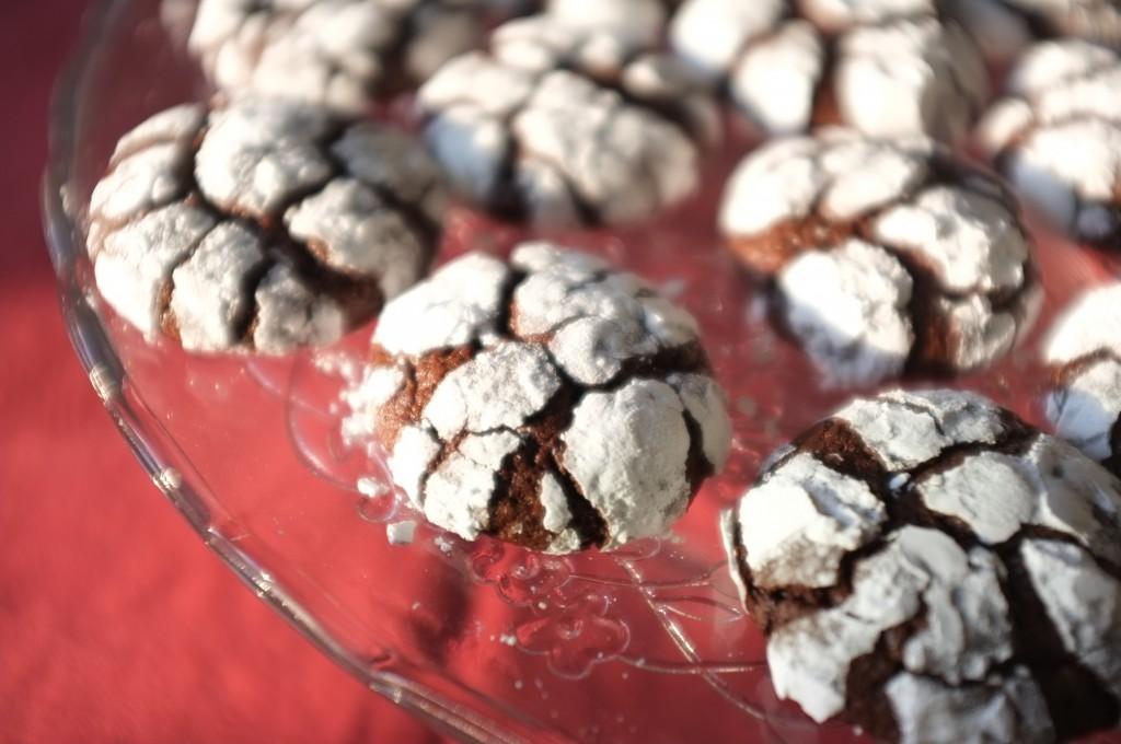 Les cookies des neiges sans gluten pour la table de fête
