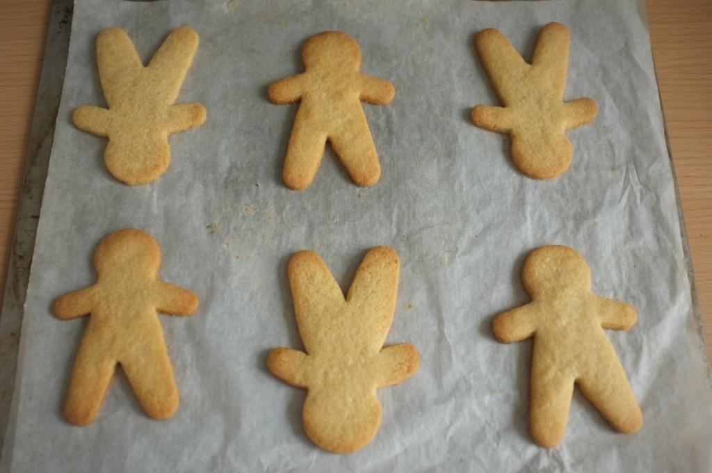Les biscuits Rudolphe à la sortie du four