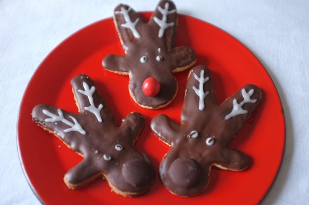 Les biscuits sans gluten Rudolphe pour les fêtes de Noël