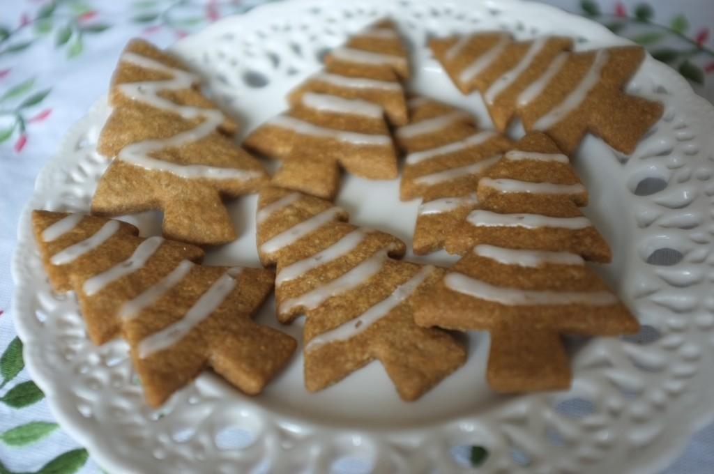 Les biscuits sans gluten en forme de sapin pour Nöel