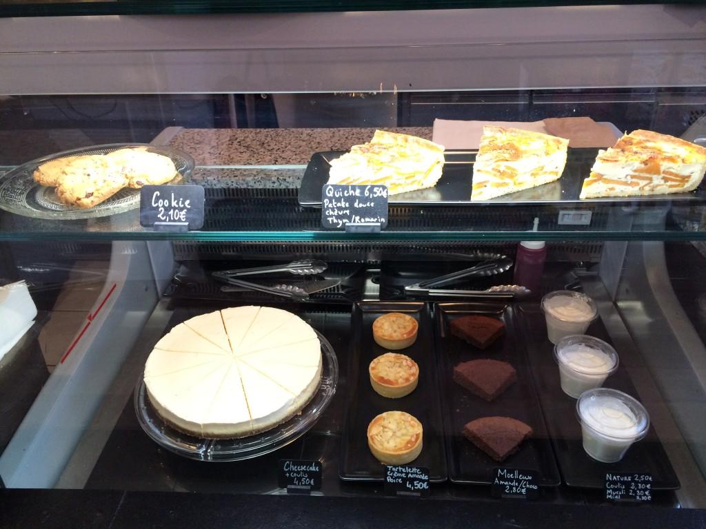 La vitrine des dessert, autant dire que le cheesecake me fait de l'oeil