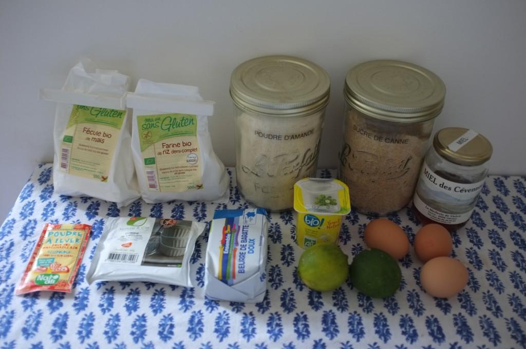 Les ingrédients sans gluten pour cuisiner en version goglu le cake citron de Laurent Mariotte
