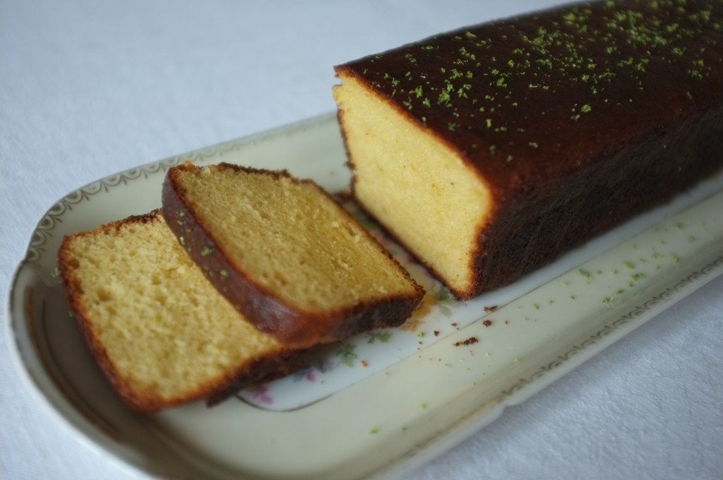 Le cake citron vert, version sans gluten, de Laurent Mariotte