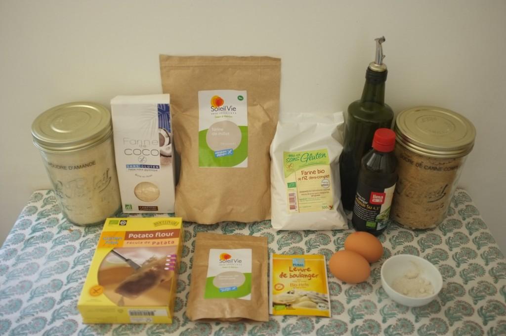 Les ingrédients sans gluten pour les petits pains de table